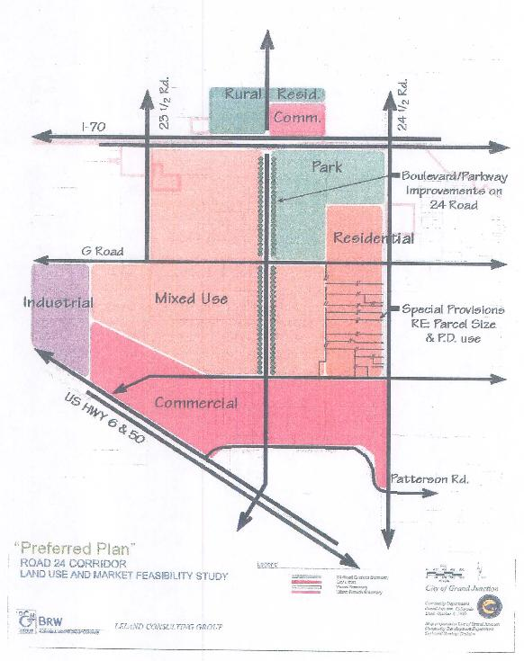 Chapter preferred plan for the 24 road corridor for Preferred plans