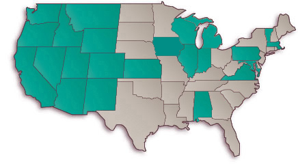 Map of the Lower 48 States